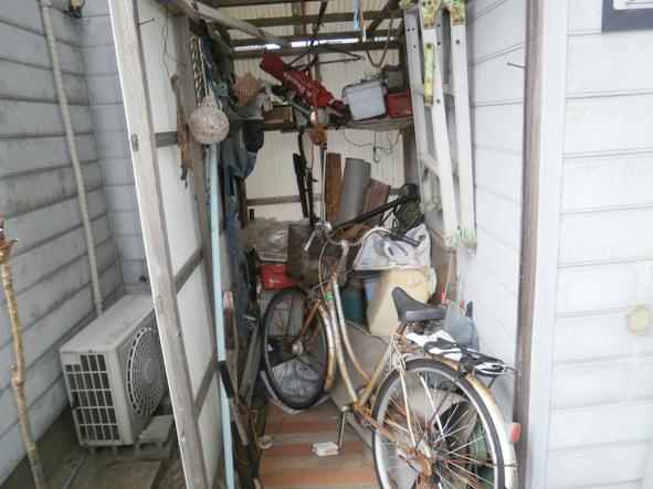 新潟県新潟市東区/物置内の不用品処理