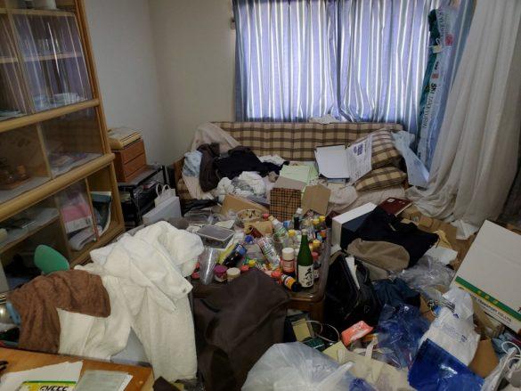 長岡市アパート/ごみ屋敷かたづけ+清掃